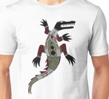 Authentic Aboriginal Art - Crocodile Unisex T-Shirt