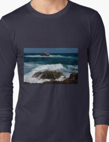 Boiling the Ocean at Laie Point State Wayside, Oahu's North Shore in Hawaii Long Sleeve T-Shirt