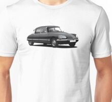 Citroen DS illustration, black Unisex T-Shirt