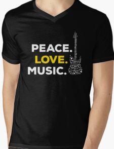 Peace. love. music! Mens V-Neck T-Shirt