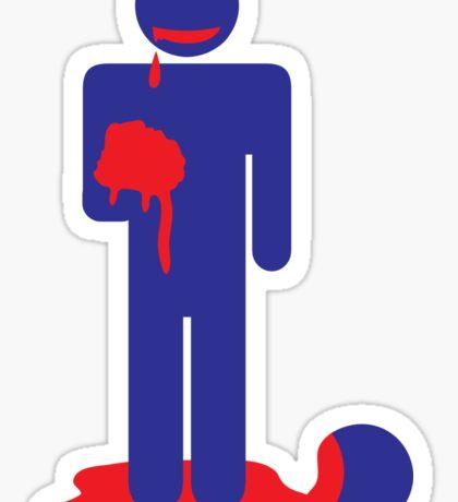ZOMBIE man eating brains Sticker