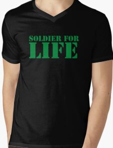 MILITARY SOLDIER for LIFE! Mens V-Neck T-Shirt