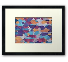 Watercolor pieces Framed Print