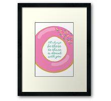 donuts. Framed Print