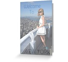 Welcome to New York Greeting Card