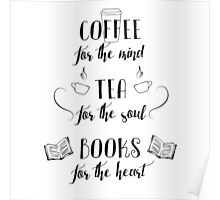 Coffee, Tea, Books Poster