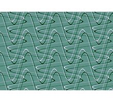 Doodles on a green background Photographic Print