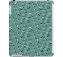 Doodles on a green background iPad Case/Skin