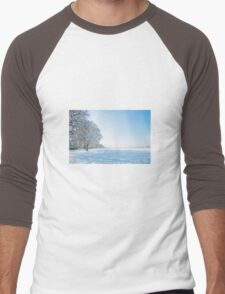 Snow scene  Men's Baseball ¾ T-Shirt