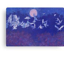 Egret Flight Canvas Print