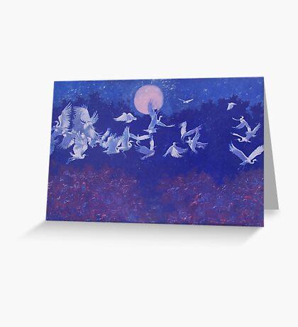 Egret Flight Greeting Card