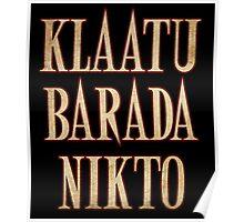 Ash vs Evil Dead - Klaatu Barada Nikto Poster