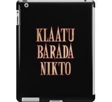 Ash vs Evil Dead - Klaatu Barada Nikto iPad Case/Skin