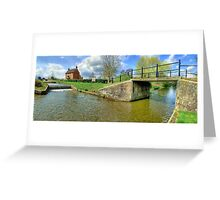 Papercourt Lock Panorama - HDR Greeting Card