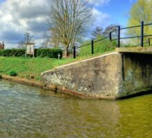 Papercourt Lock Panorama - HDR Sticker