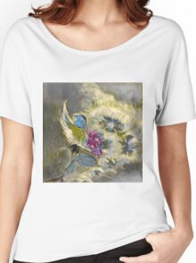 floral oil painting Women's Relaxed Fit T-Shirt
