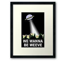 X-Files Cats Wanna Be Weeve Framed Print