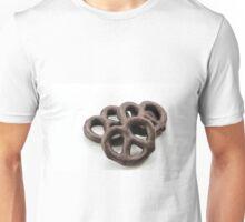 Chocolate Pretzels isolated on white Unisex T-Shirt