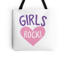 Girls rock! in a cute little love heart Tote Bag