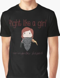 Fight Like a Girl - The Commander Graphic T-Shirt