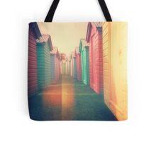 Beach Huts 02D - Retro Tote Bag