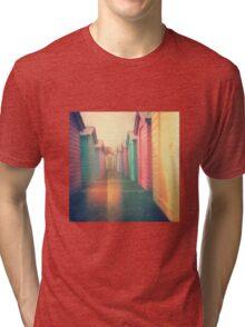 Beach Huts 02D - Retro Tri-blend T-Shirt