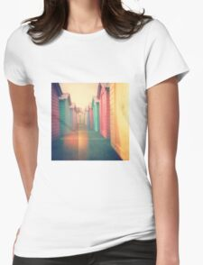 Beach Huts 02D - Retro Womens Fitted T-Shirt
