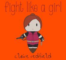 Fight Like a Girl - Zombie Killer Girl Kids Tee