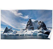 Antarctic mountains  Poster