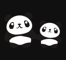 Cute Pandas holding hands Baby Tee