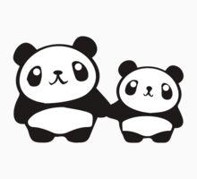 Cute Pandas holding hands Kids Tee
