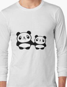 Cute Pandas holding hands Long Sleeve T-Shirt