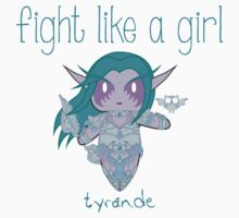 Fight Like a Girl - Elven Priestess Kids Tee