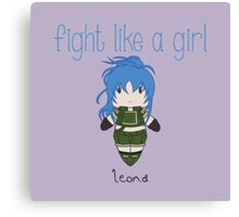 Fight Like a Girl - Fighter Canvas Print
