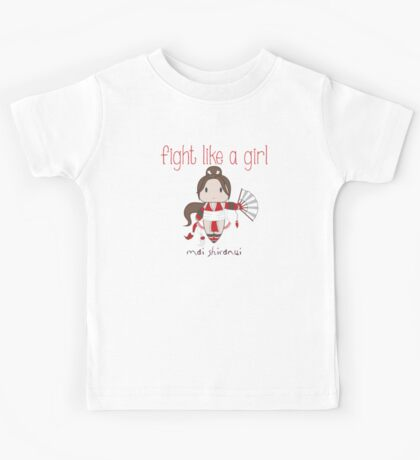 Fight Like a Girl - Cute Fighter Kids Tee
