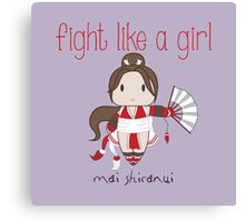Fight Like a Girl - Cute Fighter Canvas Print