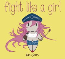 Fight Like a Girl - She Fighter Kids Tee