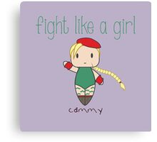 Fight Like a Girl - Fighter for the Queen Canvas Print