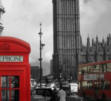 London Red Bus and Telephone Box Sticker