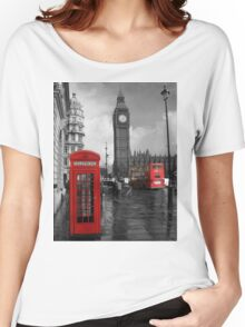 London Red Bus and Telephone Box Women's Relaxed Fit T-Shirt