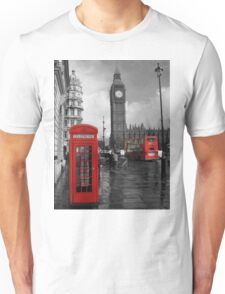 London Red Bus and Telephone Box Unisex T-Shirt
