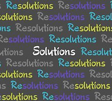 Resolutions Become Solutions by umeimages