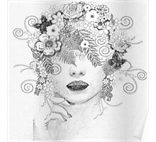 floral woman Poster
