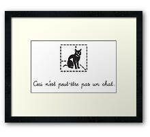 Le Chat de Schrödinger (dark) Framed Print