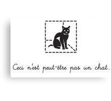 Le Chat de Schrödinger (dark) Canvas Print