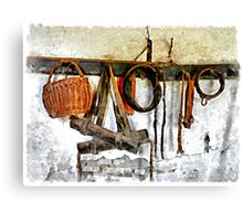 Basket and bridles Canvas Print