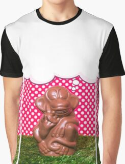 Chocolate monkey on the grass Graphic T-Shirt