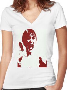 PSYCHO Women's Fitted V-Neck T-Shirt