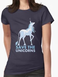 Save the Unicorns Womens Fitted T-Shirt