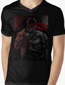 EVIL Ryu So badass Street Fighter Mens V-Neck T-Shirt